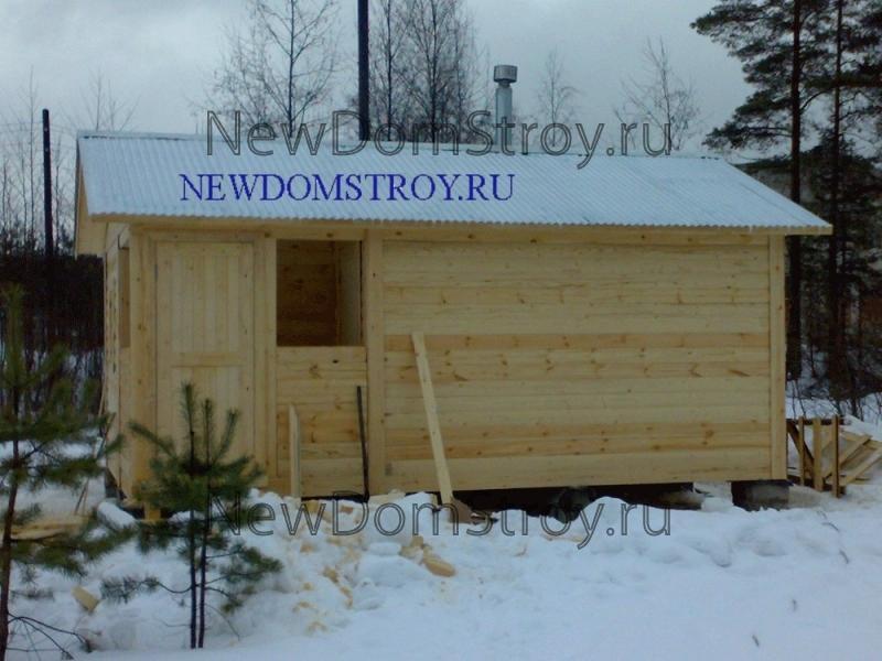 баня, построенная зимой