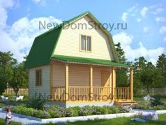 Садовый домик из бруса 6х6