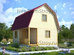 двухэтажный дом из бруса 6х6