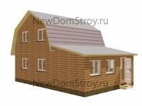 двухэтажный дачный дом из бруса 6 на 9