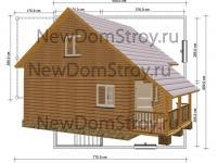 садовый домик 6 на 6 с террасой по привлекательной цене