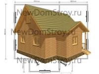 привлекательный дом из бруса 6х8 с тамбуром