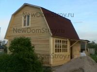 деревянный дом из бруса 7х6 с удобной мансардой