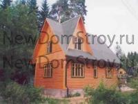 дом из бруса 6х8 с фронтонами