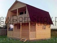 двухэтажный дачный дом 6 на 6 с террасой