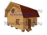 Дачный дом из бруса 6х6 с мансардой