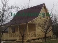 деревянный дачный дом 8х7 с прямой крышей