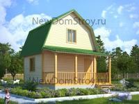 надежный дом из профилированного бруса