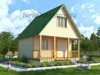 проект дачного дома 6х7