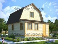двухэтажный дом из бруса 6х8 с тамбуром