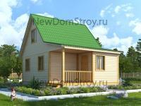двухэтажный дом из бруса 6 на 8