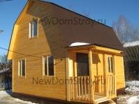 фото деревянного домика 6х6