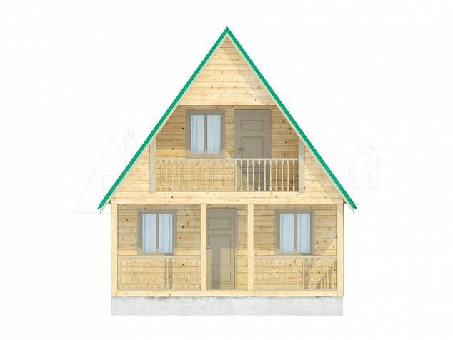 фасады дома из бруаса